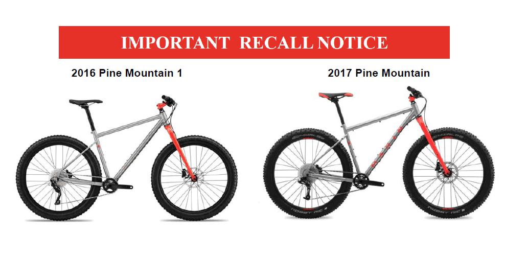 Product recall Marin Bikes shortmanual.com